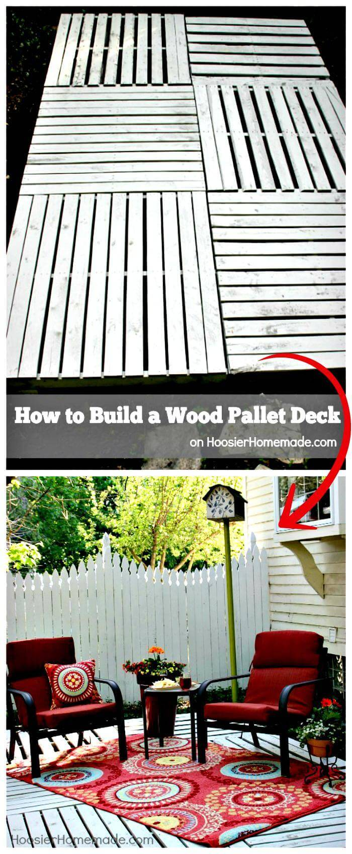 DIY Wood Pallet Deck Tutorial