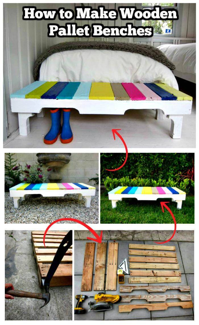 How to Make Wooden Pallet Benches