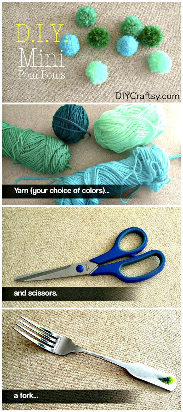 How to Make Yarn Pom Pom - DIY Pom Pom