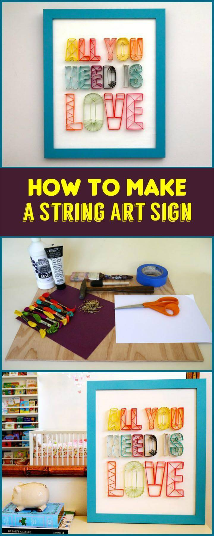 How to Make a String Art Sign