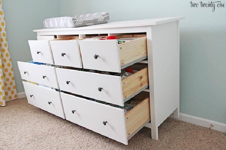 How to Organize Nursery Dresser