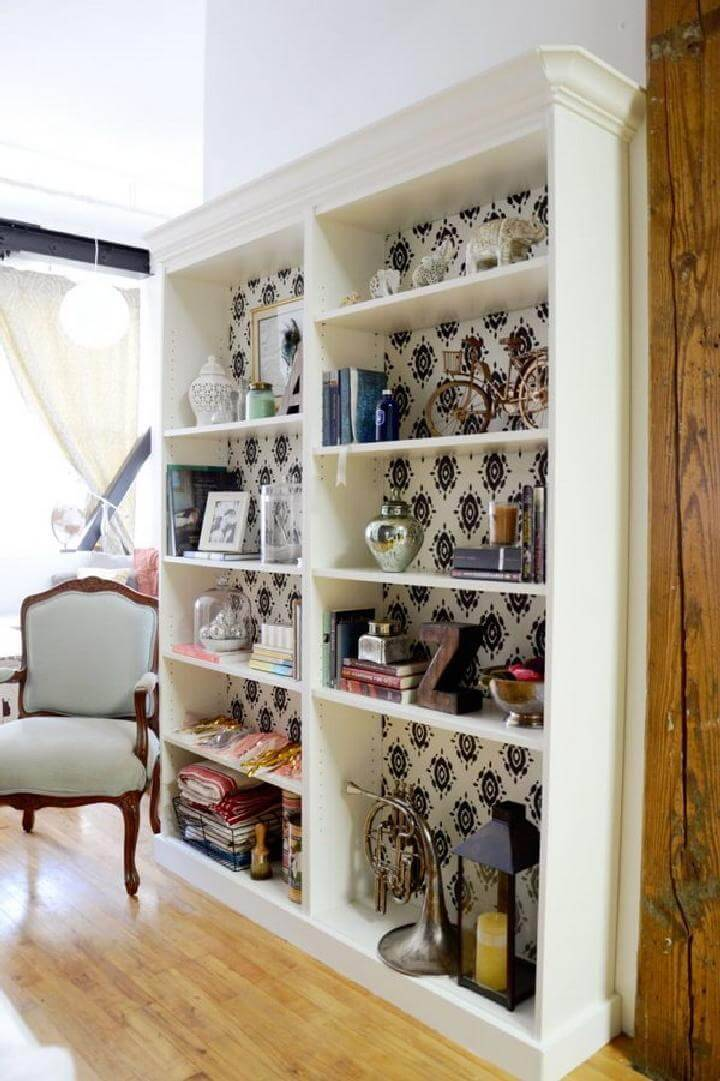 How to add Beveled Crown Molding on IKEA BILLY Bookcase
