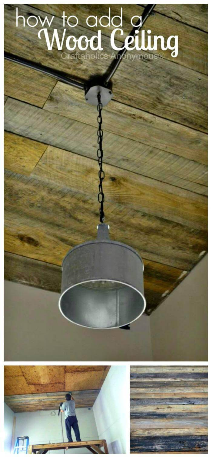 How to add a Wood Ceiling DIY Tutorial
