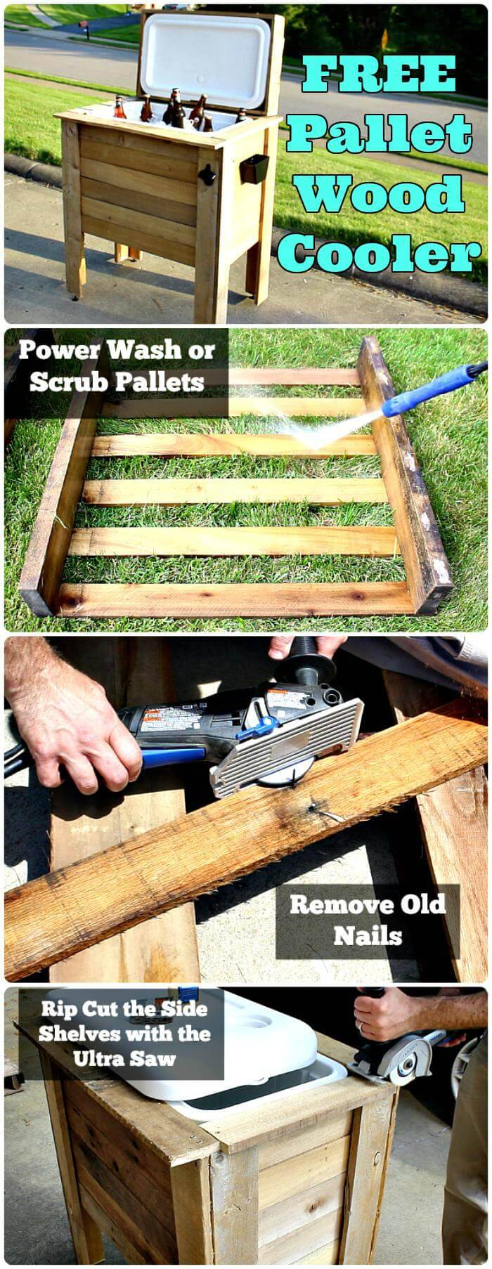 DIY Pallet Cooler Project and Tutorial