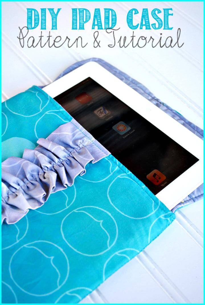 easy iPad sleeve case tutorial