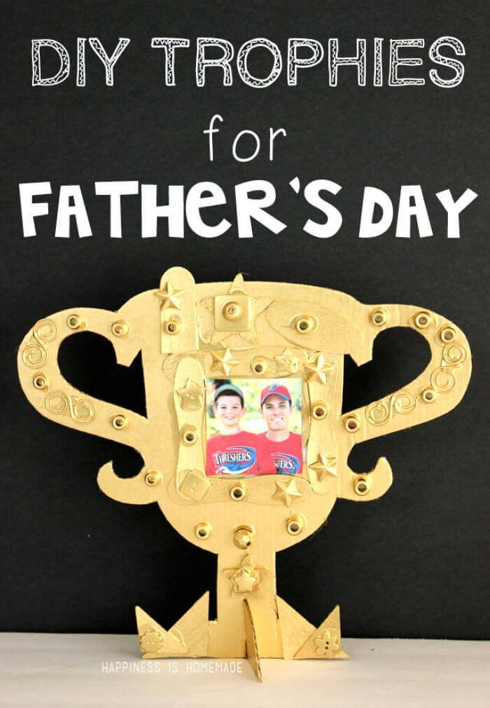 IY Father's Day Trophy - Father's Day Gifts
