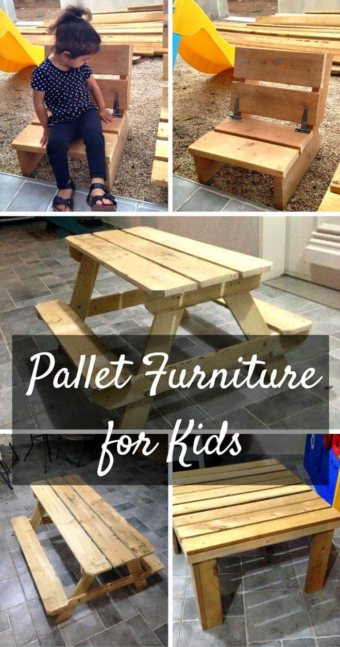 DIY Kids Furniture Made from Pallets
