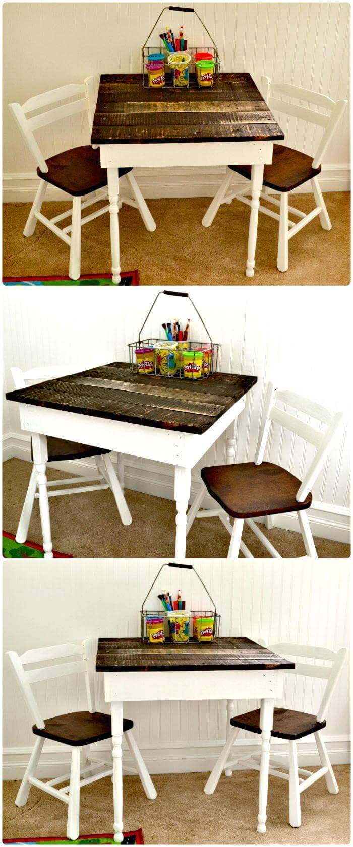 DIY Kid's Pallet Table