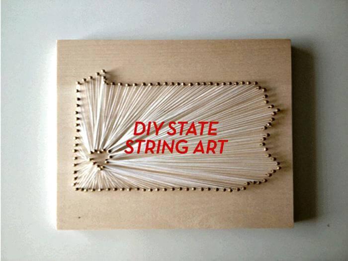 MAKE DIY STATE STRING ART