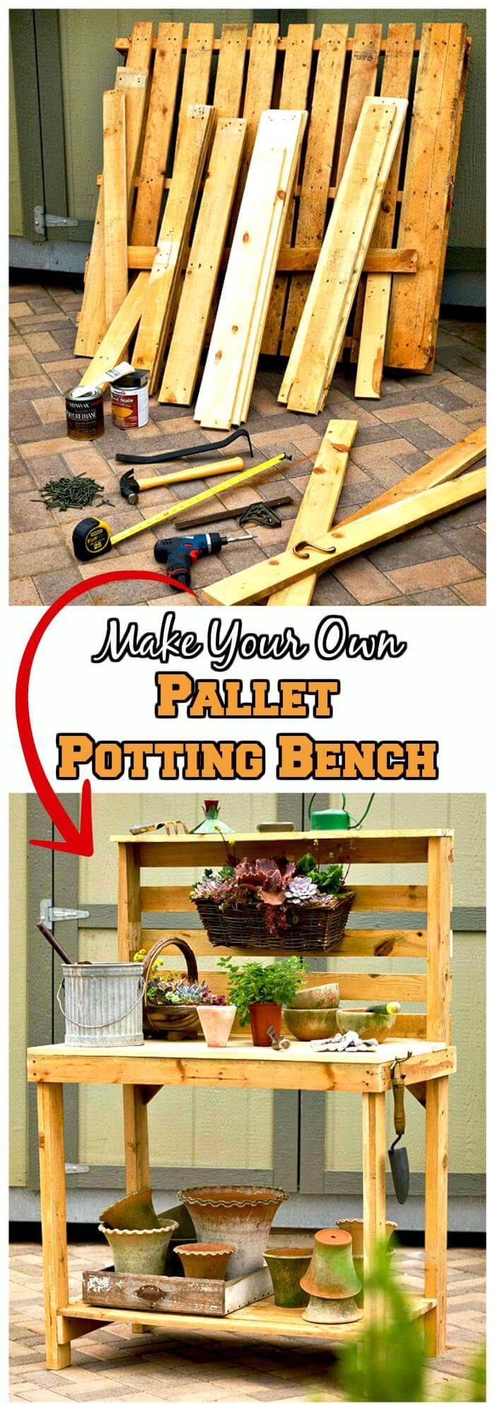 DIY Pallet Potting Bench Tutorial