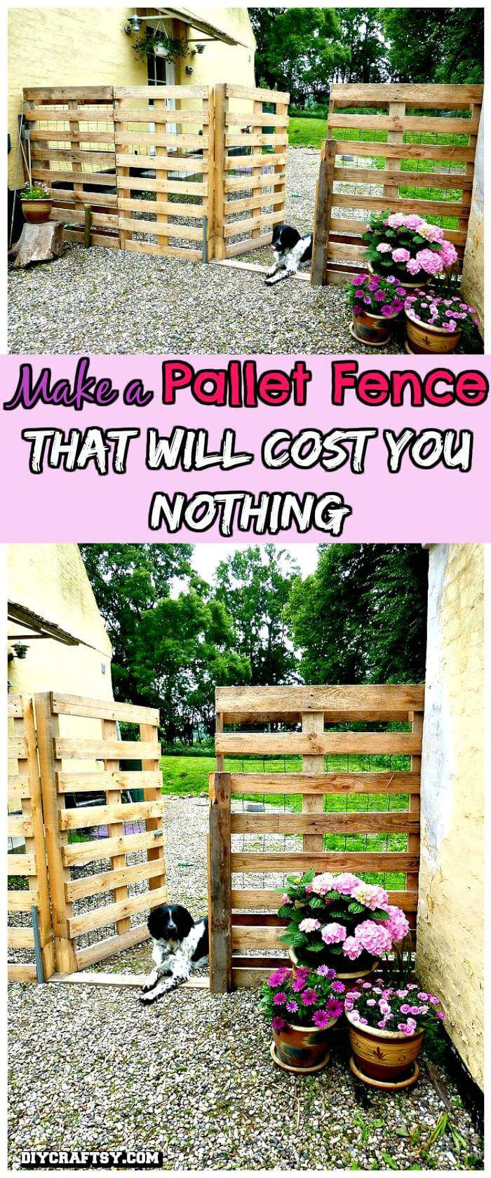 DIY No-Cost Pallet Fence
