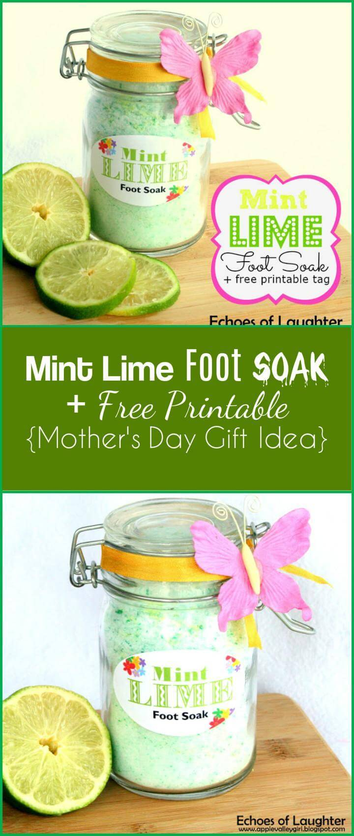 easy mint line foot soak with free printable