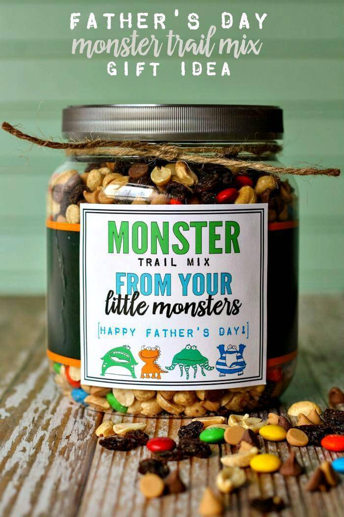 DIY Monster Trail Mix Father's Day Gift