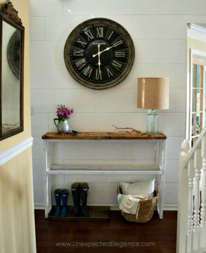 Easy Diy Foyer Table : Best diy entryway table ideas with tutorials crafts