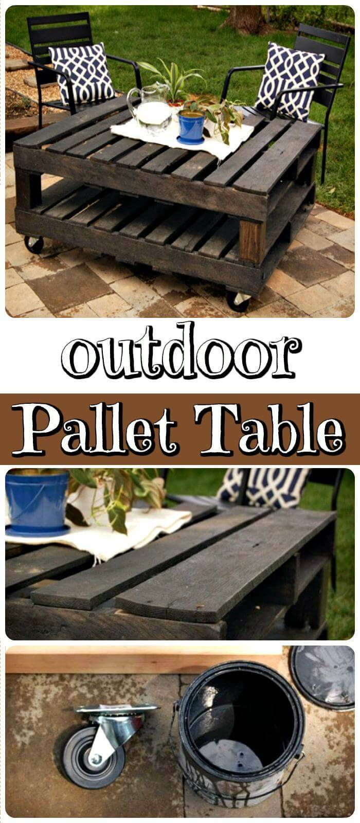 Wooden Outdoor Pallet Table