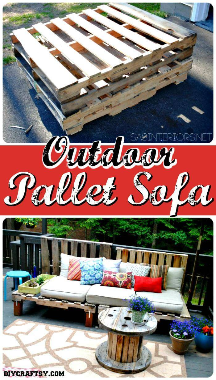 Outdoor pallet sofa Tutorial