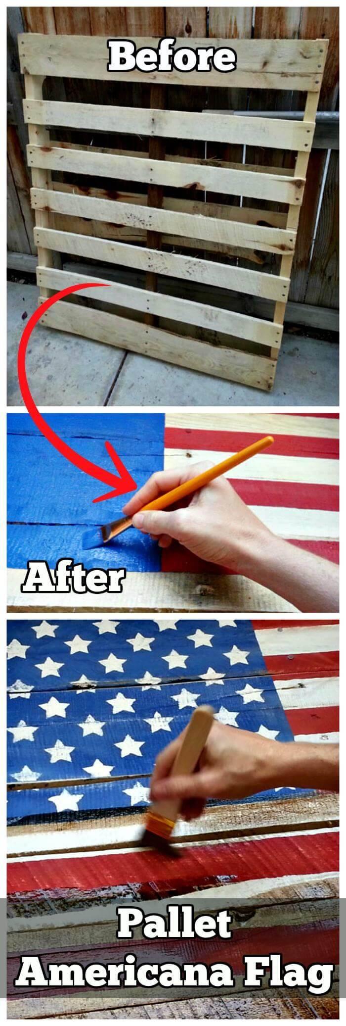 DIY Pallet Americana Flag