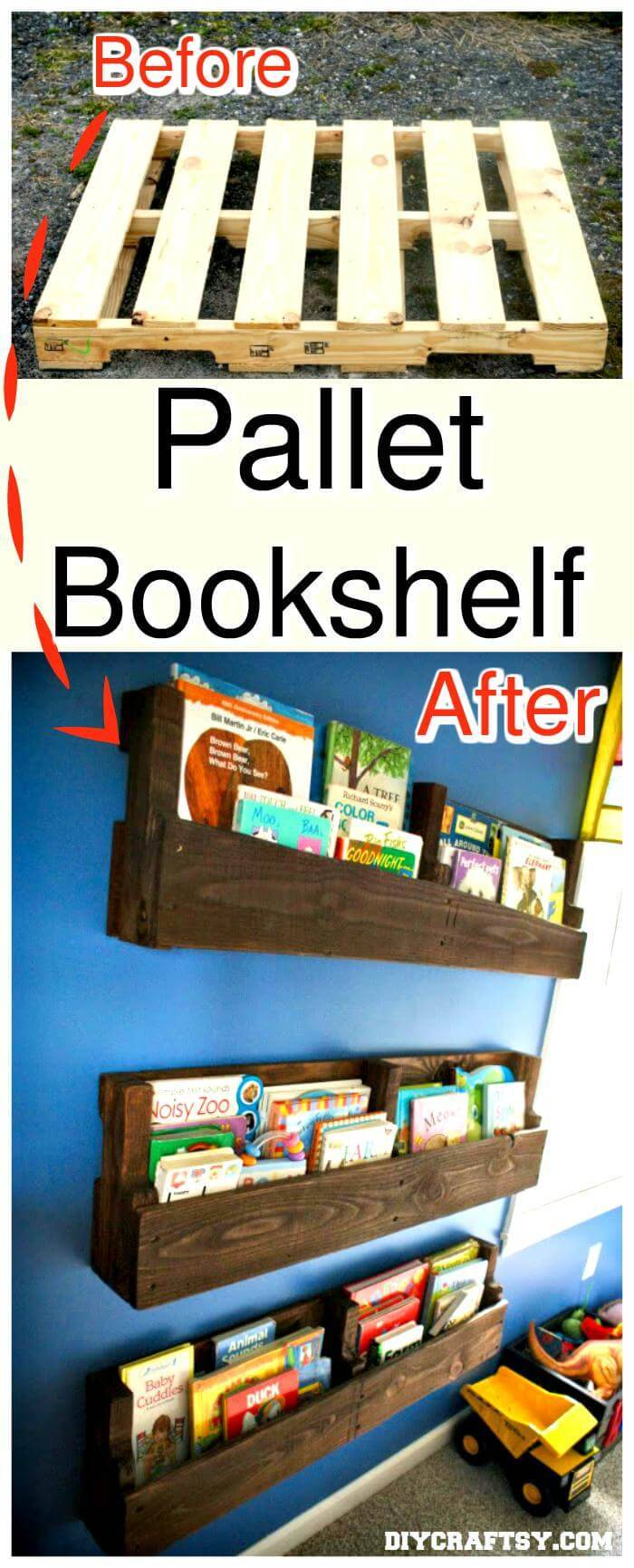 DIY Pallet Bookshelf - a mini tutorial