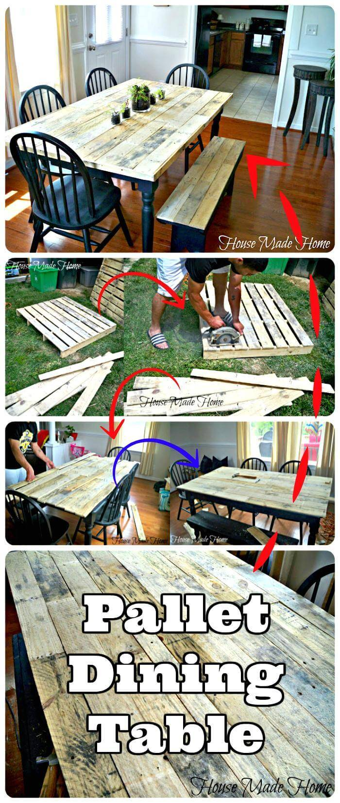 Handmade Wooden Pallet Dining Table