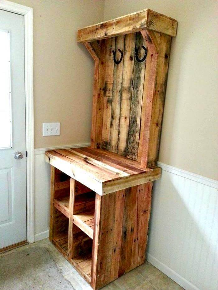 Pallet Hall Tree - Pallet Coat Rack