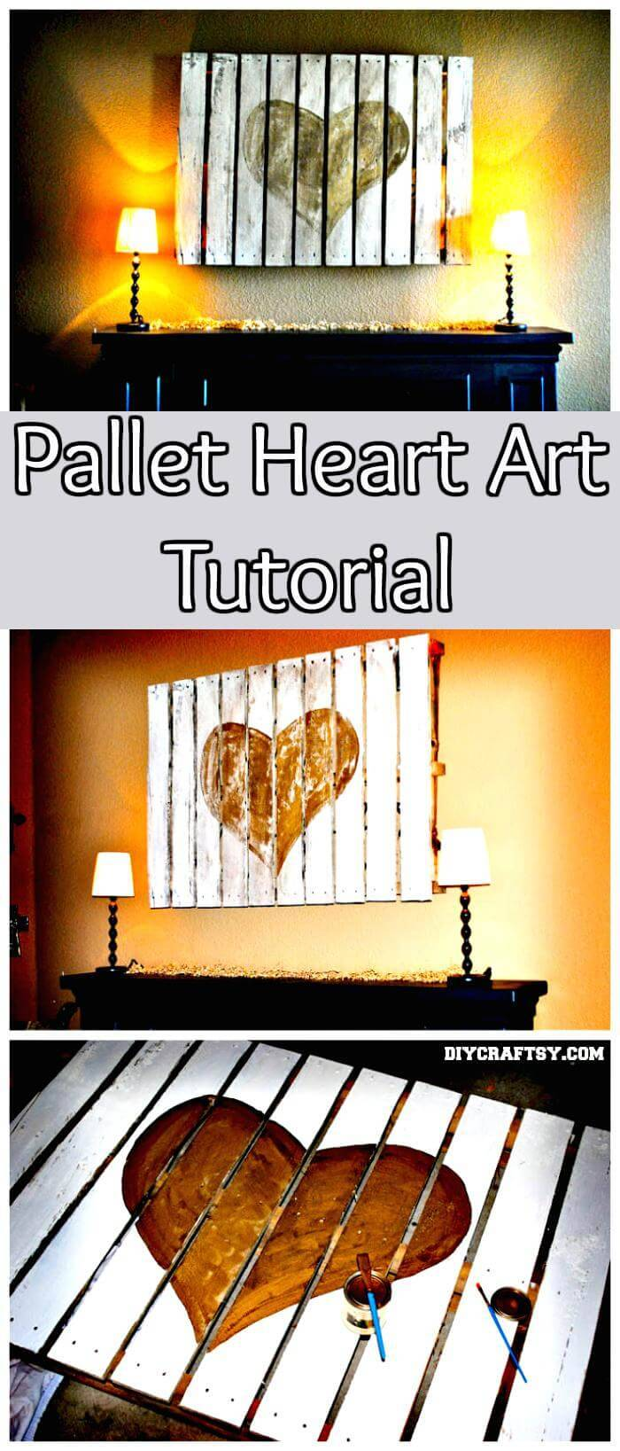 DIY Pallet Heart Art Tutorial
