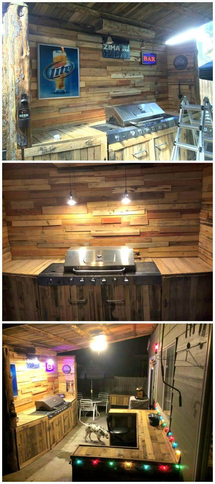 Handmade Pallet Outdoor Kitchen