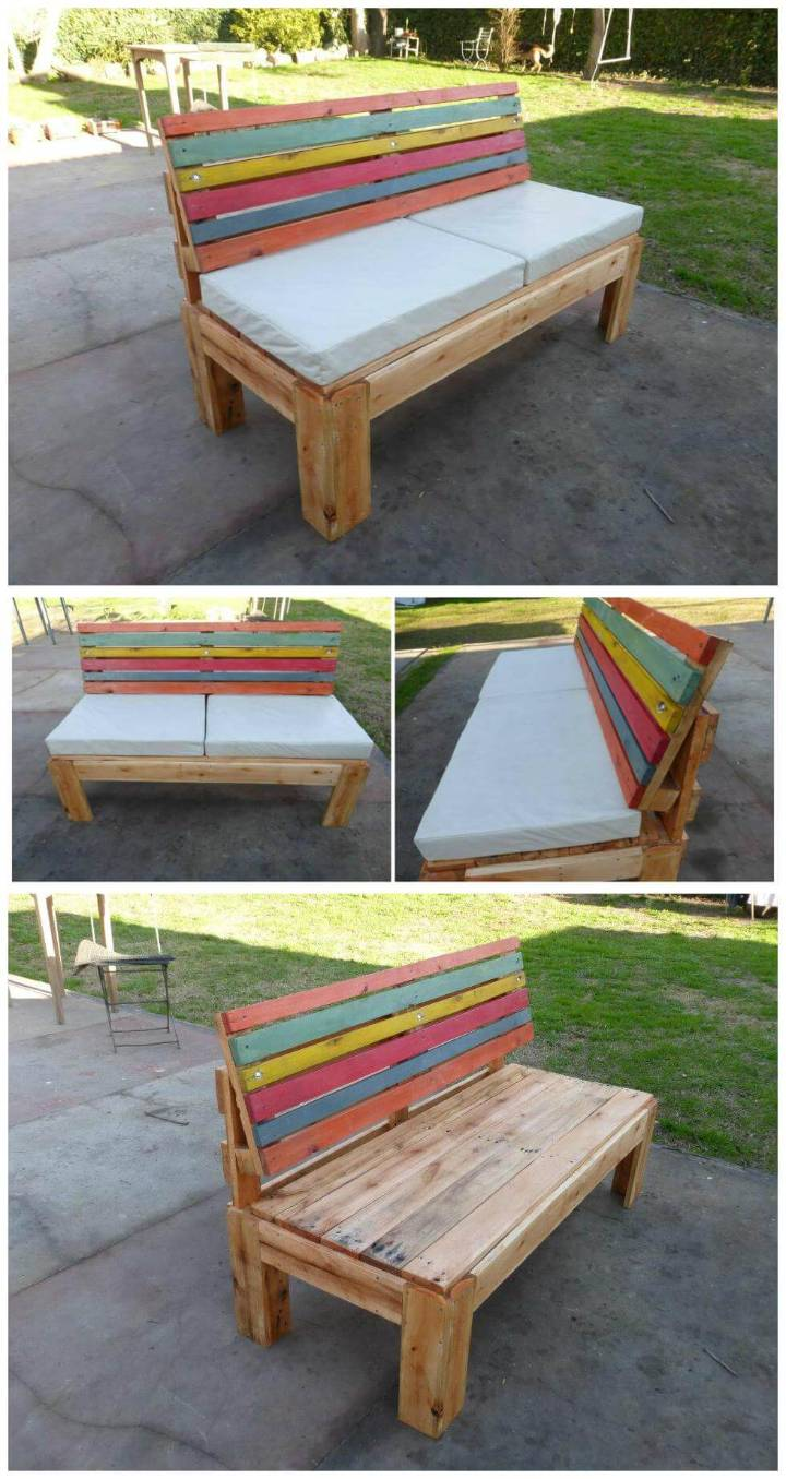 Pallet Outdoor Sofa with Comfort Back
