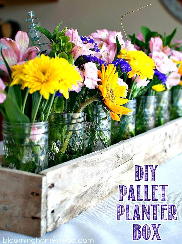 Pallet Planter Box or Pallet Centerpiece