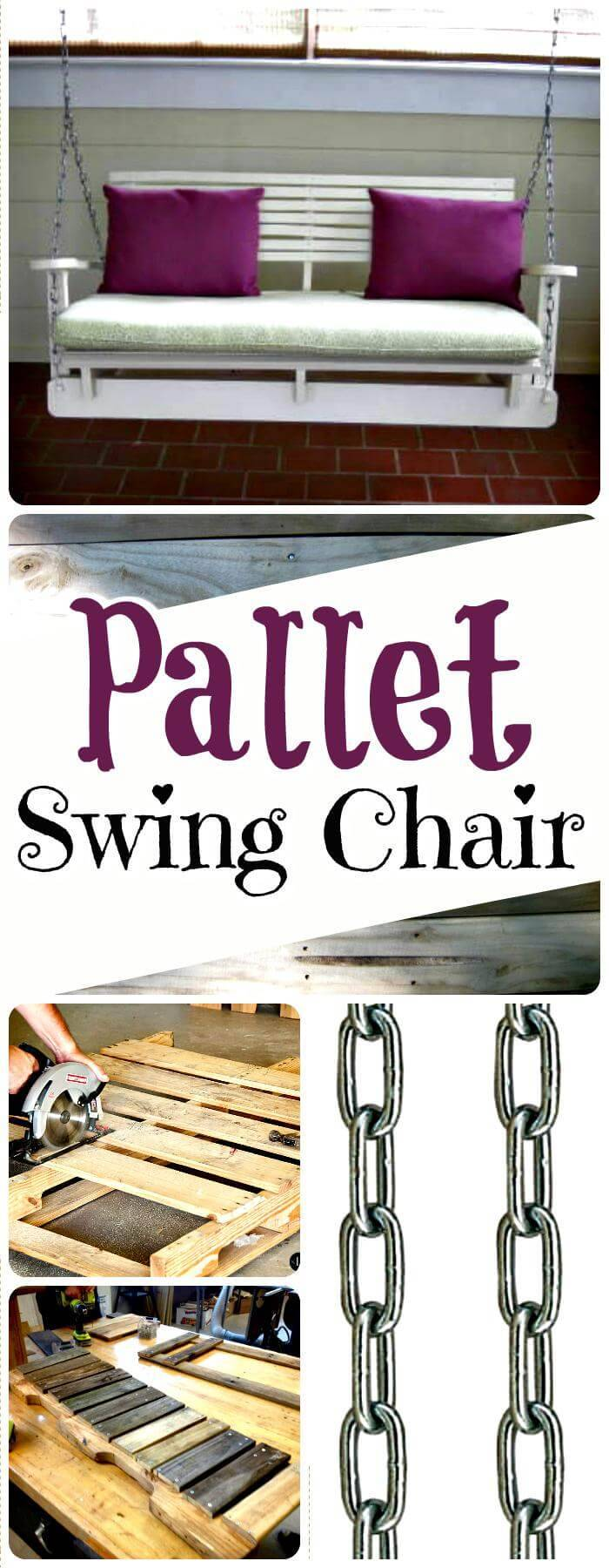 Wooden Pallet Swing Chair