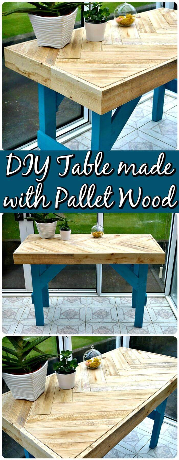 Repurposed Pallet Table 150 Best DIY Pallet