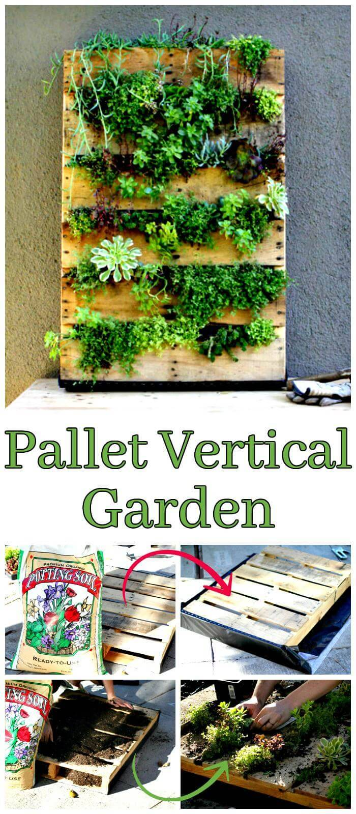 150 best diy pallet projects and pallet furniture crafts for Vertical pallet garden