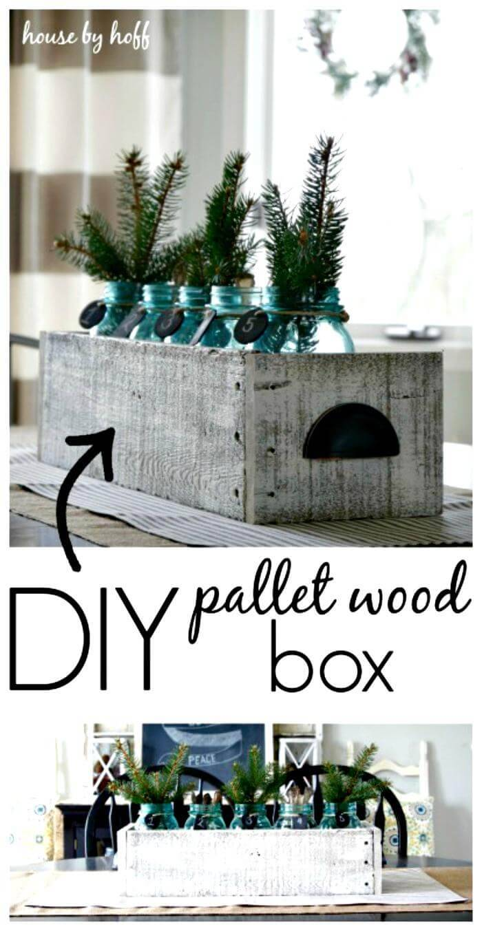 Easy Pallet Wood Box Centerpiece