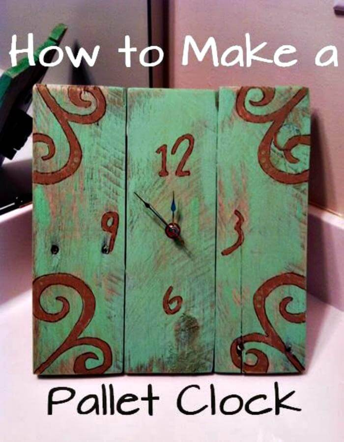 DIY Wooden Pallet Clock