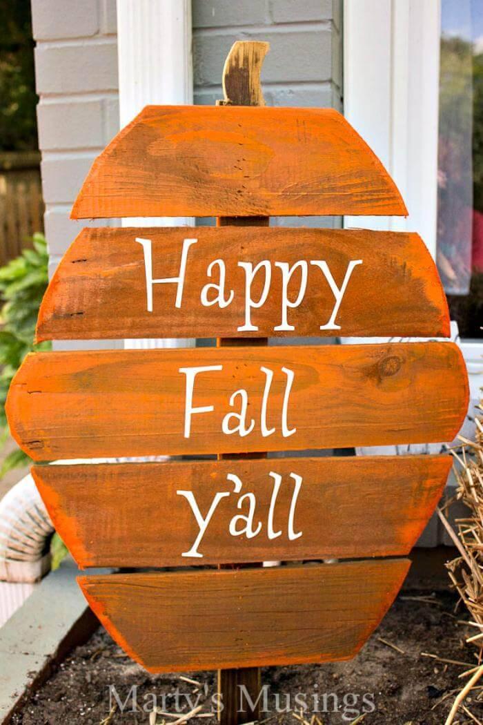 wooden pallet pumpkins