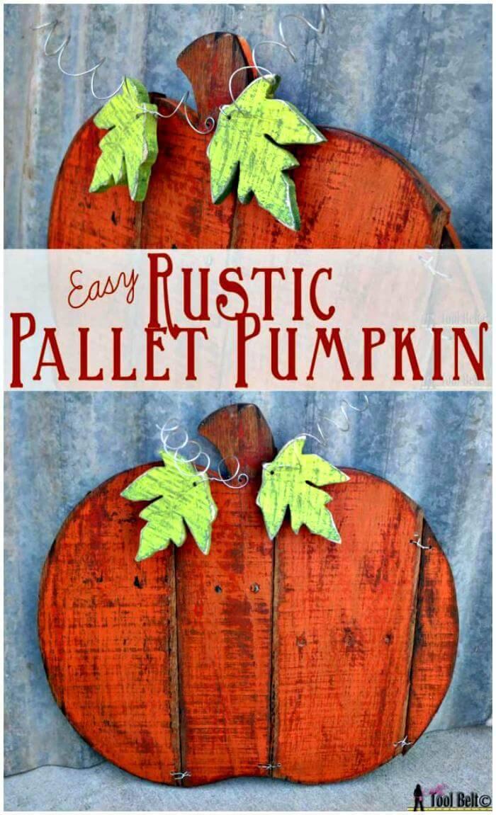 Rustic Pallet Pumpkin