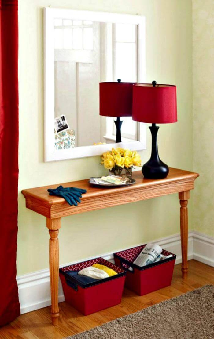 Space-Saving DIY Entry Table