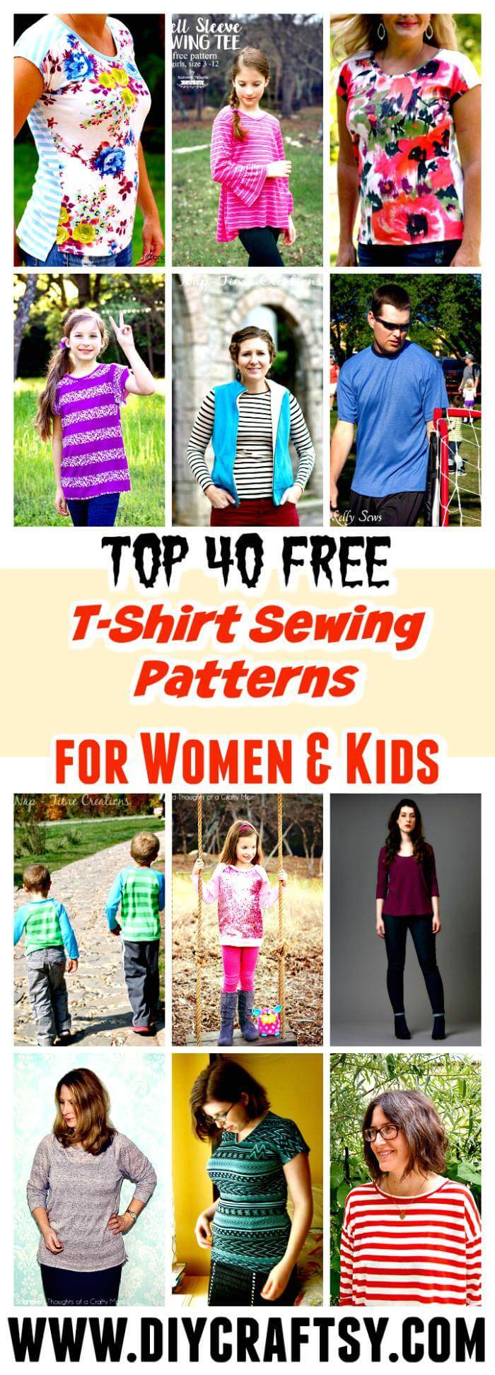Top 40 free t shirt sewing patterns for women kids diy crafts t shirt sewing patterns jeuxipadfo Images