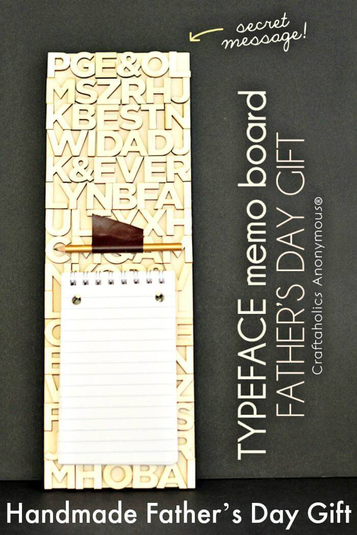 DIY Typeface Memo Board – Handmade Father's Day Gift
