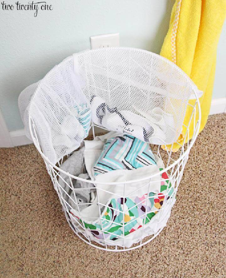 Use Mesh Laundry Bag to Organize Baby Clothes