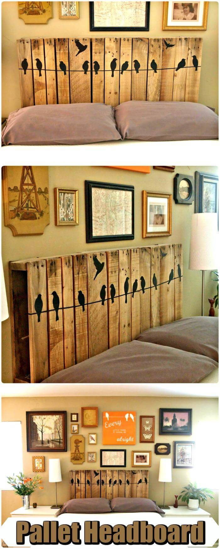 DIY Wooden Pallet Headboard