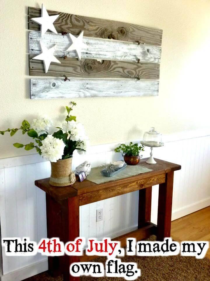 DIY American wood flag
