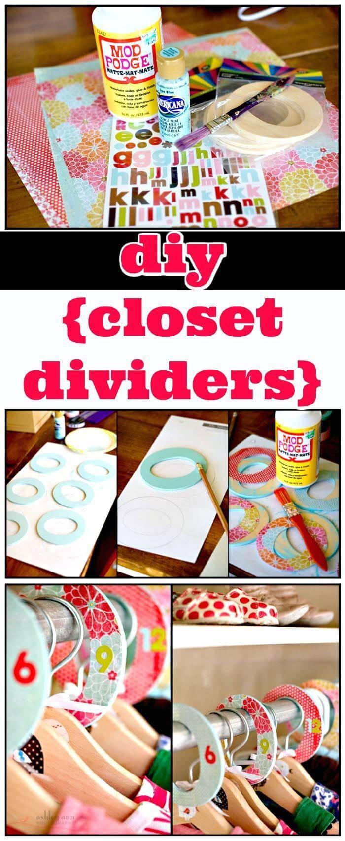 DIY closet divider tutorial