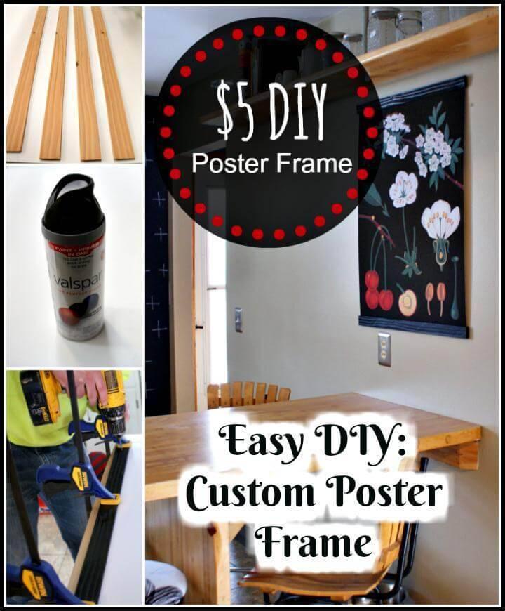 DIY custom poster frame