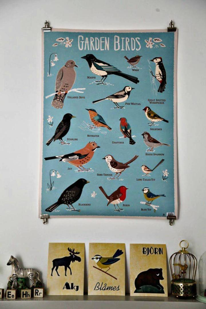 DIY custom poster hanger idea