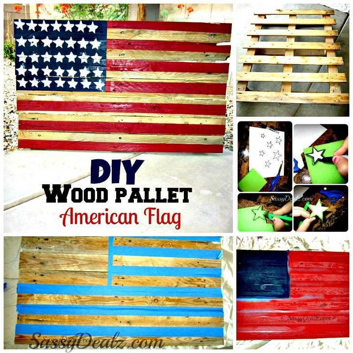 DIY pallet wood Amercian flag tutorial