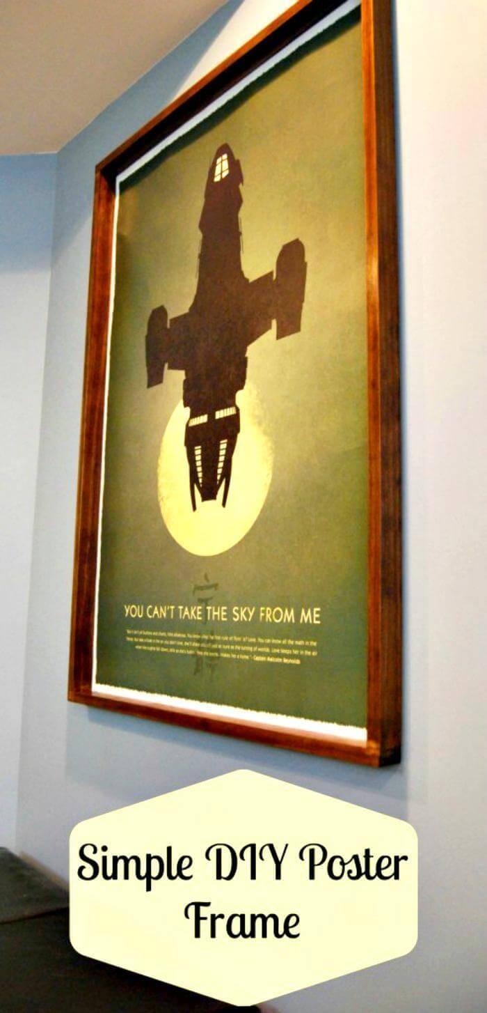 DIY handmade poster frame