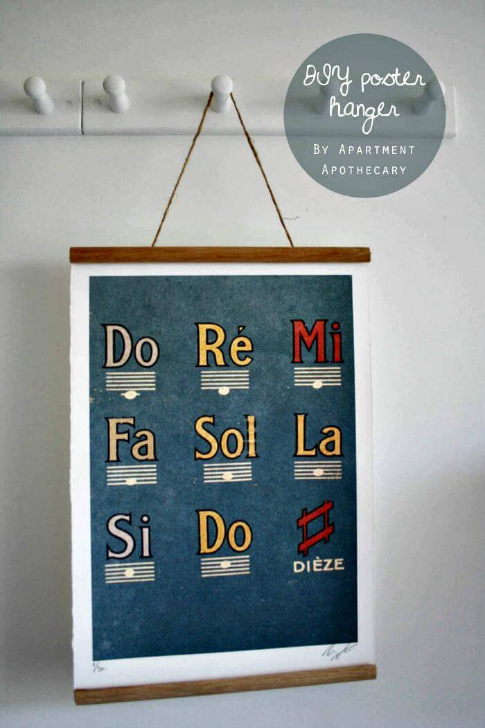 DIY easy poster hanger tutorial