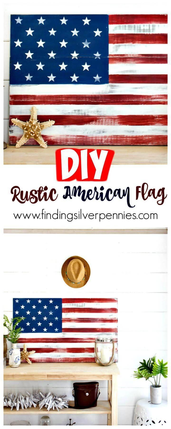 DIY Rustic Amercian flag