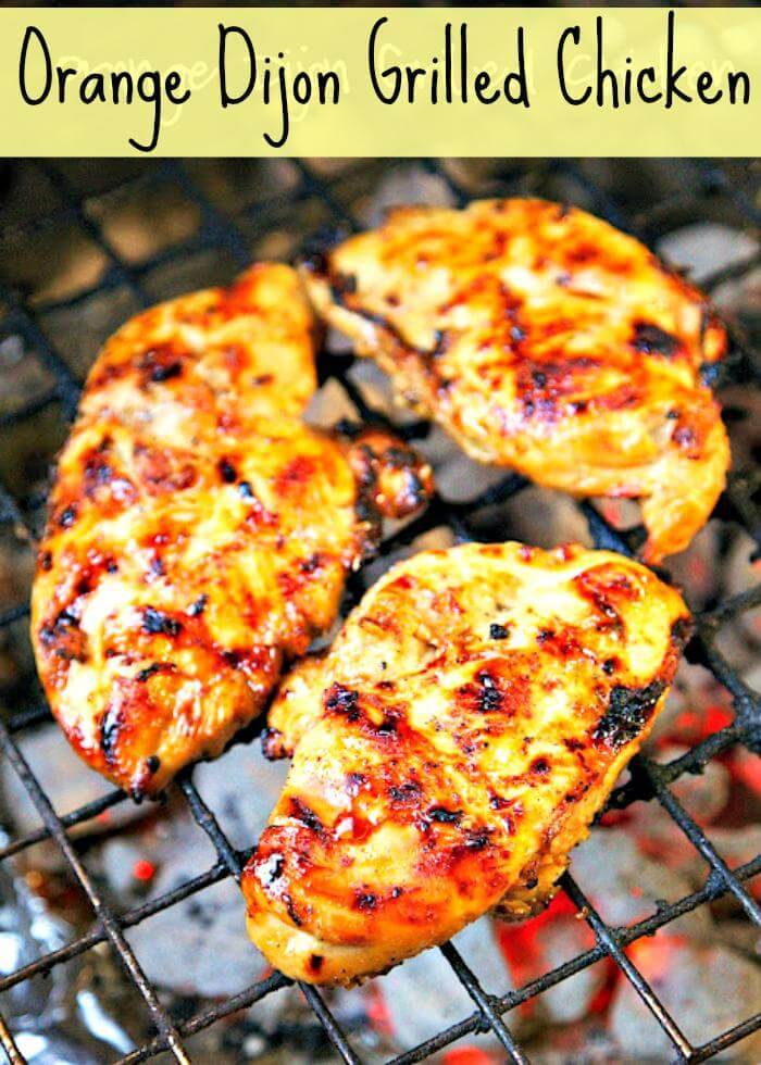 orange dijon grilled chicken