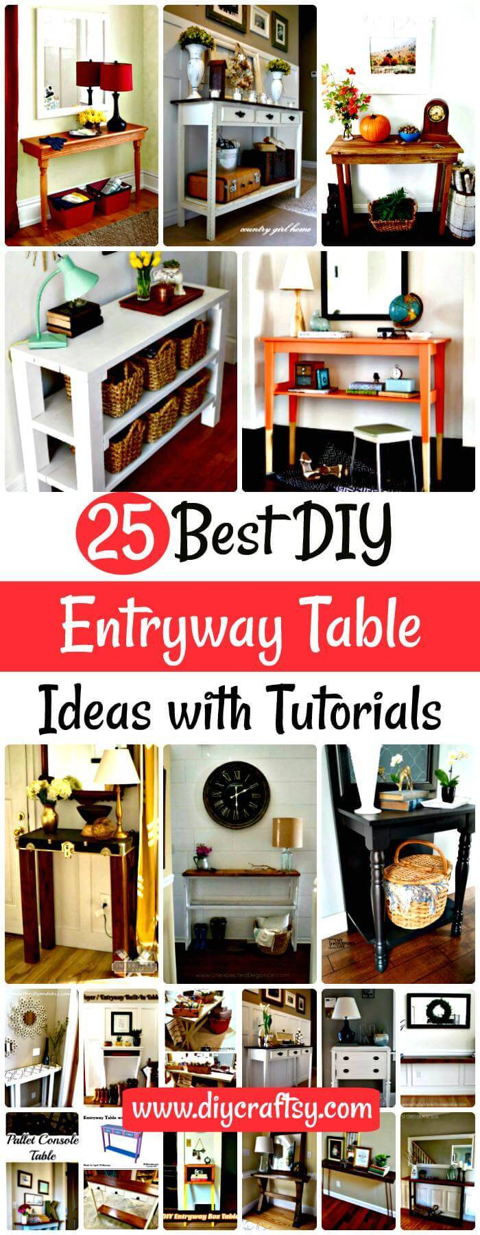 DIY Entryway Table Ideas